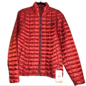 The North Face Rare Ruby Red puffer jacket unisex